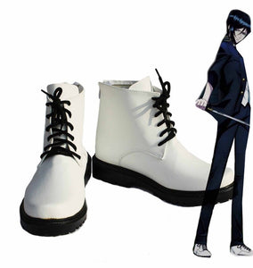 K Return of Kings Yatogami Kuroh Cosplay Boots White Shoes Custom Made