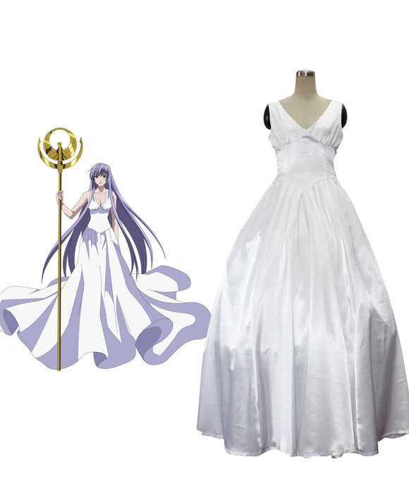 Saint Seiya The Lost Canvas Sasha Athena Cosplay Costume Custom Made