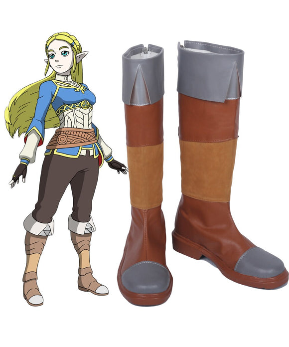 The Legend of Zelda Breath of the Wild Princess Zelda Cosplay Boots Shoes Custom Made