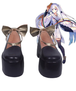VOCALOID 2018 Winter Festival Snow Miku Cosplay Shoes Boots Custom Made