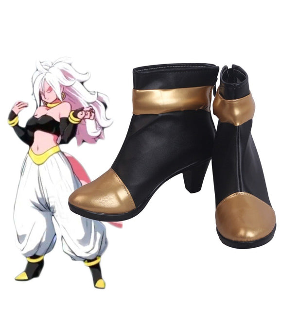 Dragon Ball FighterZ Android 21 Cosplay Boots High Heel Shoes Custom Made Any Size