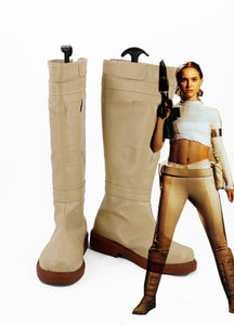 Star Wars 2 Padme Naberrie Amidala Cosplay Boots Shoes Custom Made