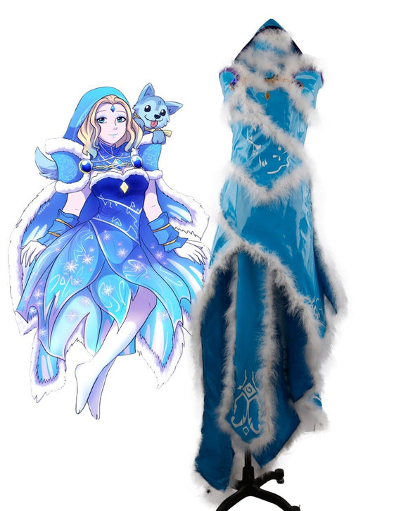 Dota 2 Crystal Maiden Dress Cosplay Costume Custom Made