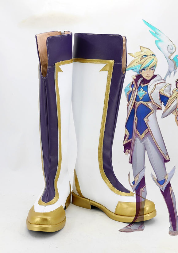 League of Legends LOL Star Guardian Ezreal Cosplay Boots Leather Shoes Custom Made