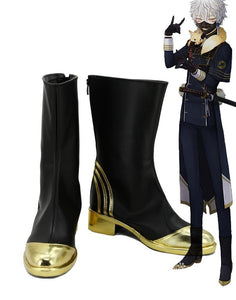 Touken Ranbu Online Nakigitsune Cosplay Boots Black Shoes Custom Made