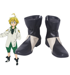 The Seven Deadly Sins 2 Meliodas Cosplay Boots Leather Shoes Custom Made