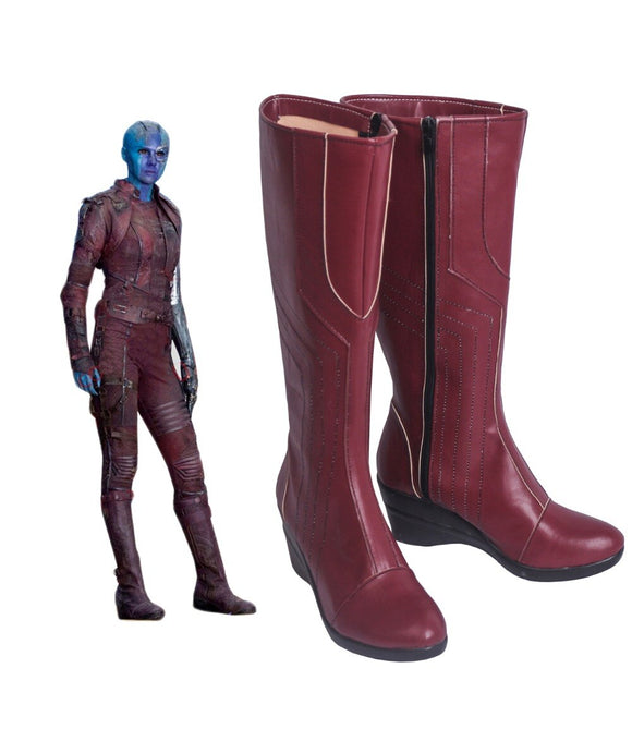 Guardians of the Galaxy 2 Nebula Cosplay Boots Knee-high Shoes Cosplay Prop