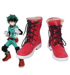 Boku no Hero Academia Izuku Midoriya Red Boots Cosplay My Hero Academia Midoriya Izuku Cosplay Shoes Custom Made