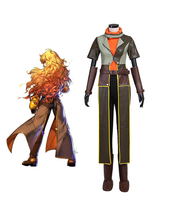 RWBY 4 The Finale Yang Xiao Long Cosplay Costume Custom Made Any Size for Men and Women