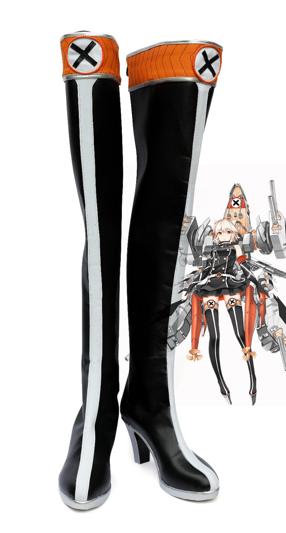 Kantai Collection Bismarck Cosplay Boots Over Knee Shoes Custom Made