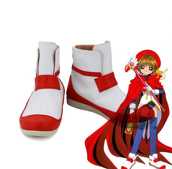 Cardcaptor Sakura Kinomoto Sakura Cosplay Shoes White Boots Custom Made