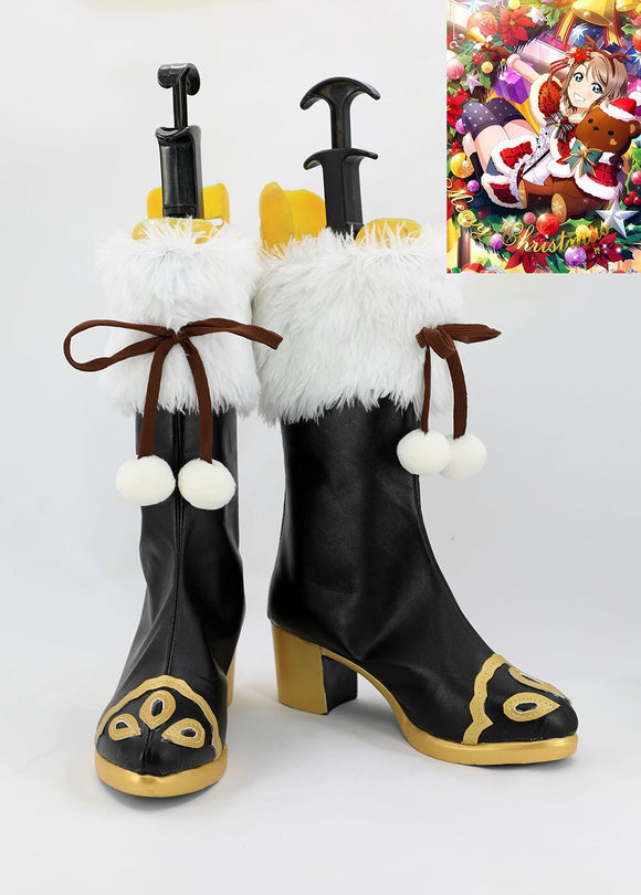 Love Live Sunshine Watanabe You Christmas Cosplay Boots Shoes Custom Made