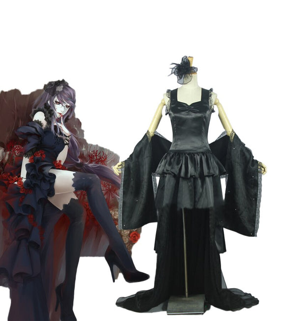 Tokyo Ghoul Rize Kamishiro Black Dress Cosplay Costume Custom Made