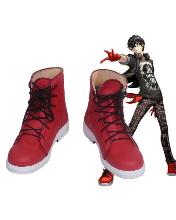 Persona5 PA5 Manga Akira Kurusu Cosplay Boots Red Shoes Custom Made