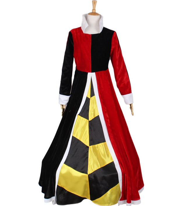 Alice In Wonderland Queen of Hearts Dress Cosplay Costume