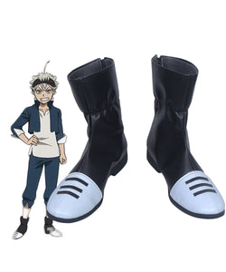Black Clover Asta Cosplay Boots Black Shoes Custom Made
