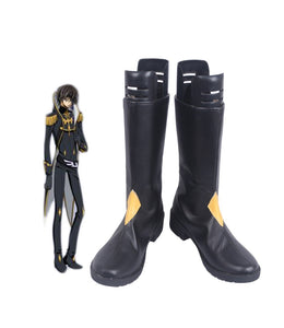 Code Geass Julius Kingsley Cosplay Boots Black Shoes Custom Made