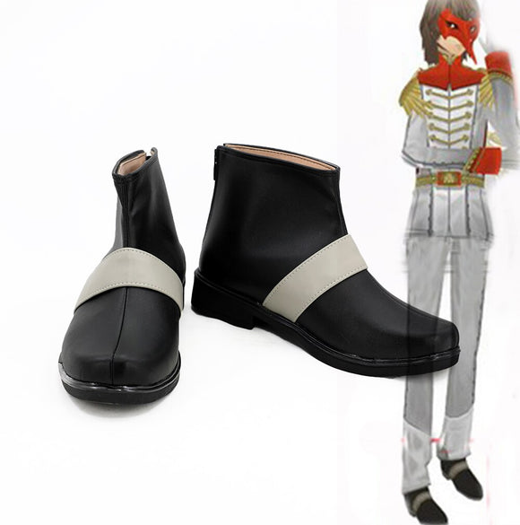 Persona 5 Goro Akechi Short Boots Cosplay Black Shoes Custom Made