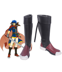 Fire Emblem Ike Cosplay Boots Black Shoes Custom Made Halloween Carnival Cosplay