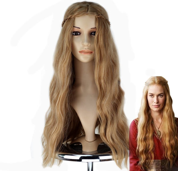 Game of Thrones Cersei Lannister Cosplay Wig Long Hair