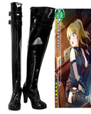 Love Live Eli Ayase Cosplay Boots Black High Heel Leather Shoes Custom Made
