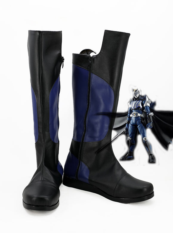 Masked Rider Knight Cosplay Boots Leather Shoes Kamen Rider Knight Black Boots Custom Made Any Size