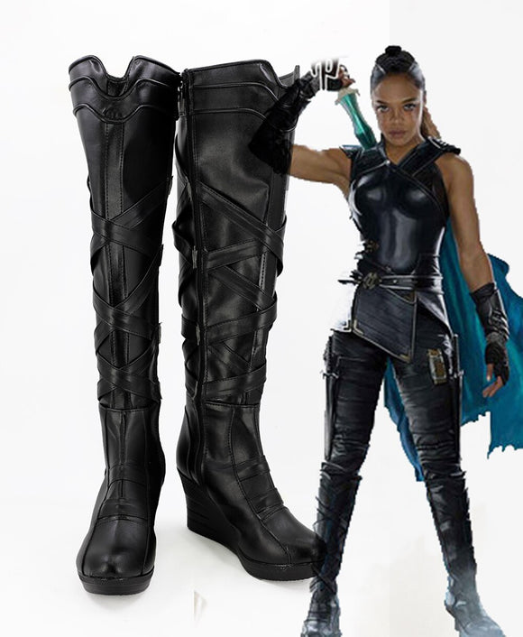Thor 3 Ragnarok Superhero Valkyrie Cosplay Boots Wedge Heel Shoes Custom Made