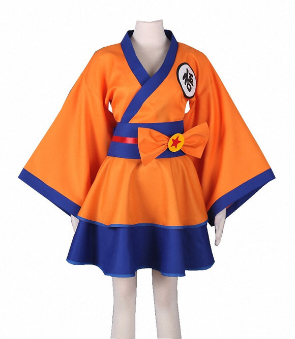 Dragonball Z Son Goku Female Dress Cosplay Costume Custom Made