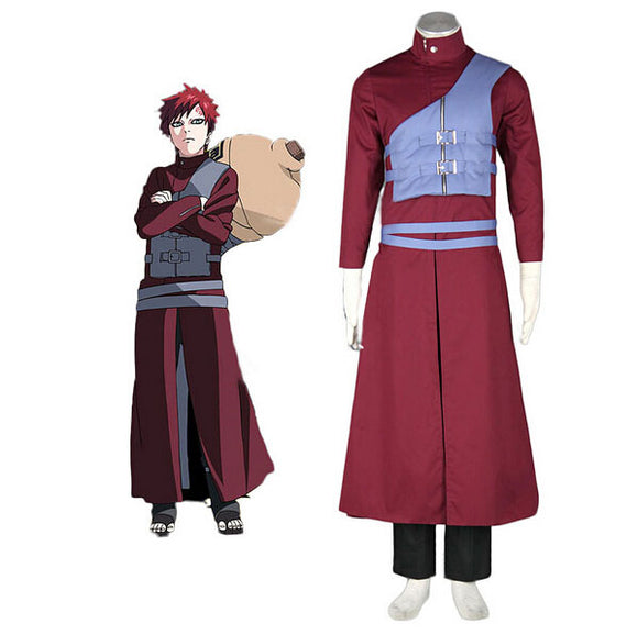 Naruto Shippuden Gaara Cosplay Costume Custom Made