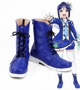 Love Live Sunshine Aqours OP2 Sakurauchi Riko Cosplay Boots Blue Shoes Custom Made
