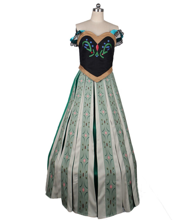 Frozen Princess Anna Party Dress Cosplay Costume Custom Made