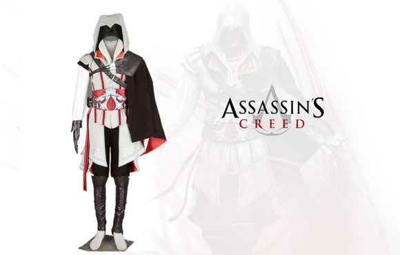 Assassin's Creed 2 Ezio Cosplay Costume Custom Made Full Set