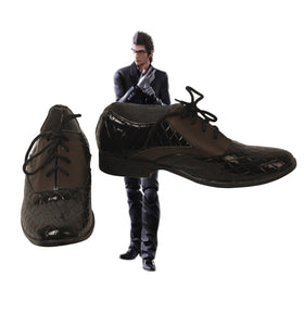 Final Fantasy XV Ignis Scientia Cosplay Shoes Brown Boots Custom Made Leather Shoes