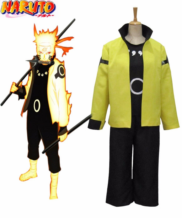 Naruto Uzumaki Naruto Nine-Tails Bijuu Mode 3rd Cosplay Costume Custom Made