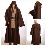 Star Wars Jedi Knight Obi-Wan Kenobi Brown Robe Cosplay Costume Custom Made
