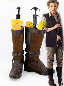 Star Wars The Force Awakens Star Wars7 Leia Cosplay Boots Shoes Custom Made