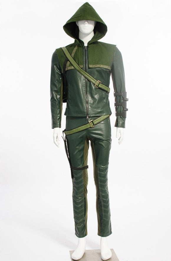 Green Arrow Oliver Queen Cosplay Costume Custom Made Full Set
