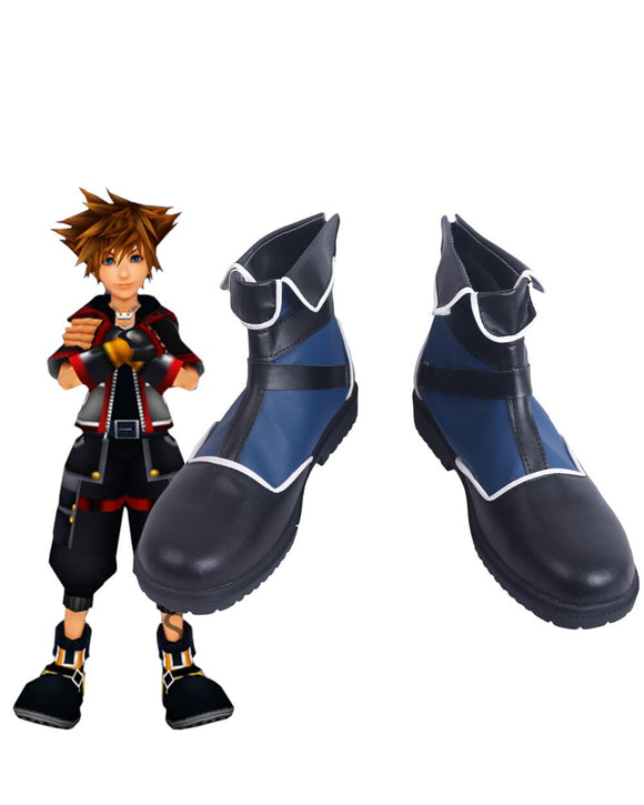 Kingdom Hearts Sora Cosplay Boots Blue Shoes Custom Made Halloween Carnival Cosplay Shoes Any Size
