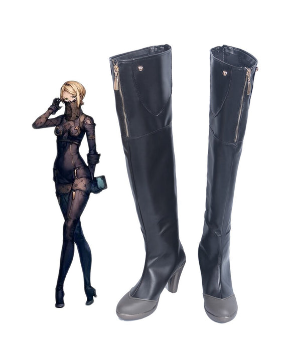 Nier: Automata Operator 60 Cosplay Boots Over Knee Shoes Custom Made