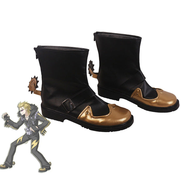 Fate Grand Order FGO Sakata Kintoki Cosplay Boots Custom Made Black Shoes Cosplay