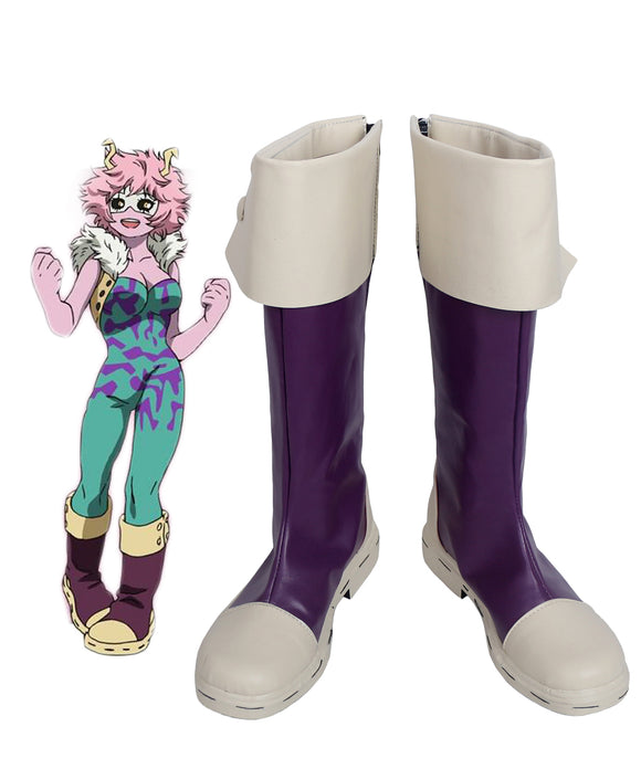 Boku no Hero Academia Mina Ashido Cosplay Boots My Hero Academia Mina Ashido Purple Cosplay Shoes Custom Made