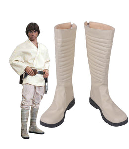 Star Wars A New Hope Skywalker Luke Cosplay Boots Leather Shoes Custom Made