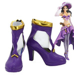 One Piece Nico Robin Cosplay Shoes Purple Boots Custom Made