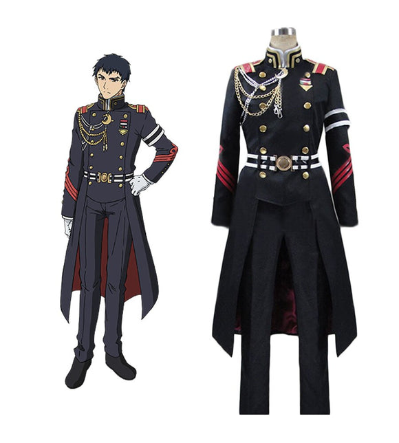 Seraph of the End Kureto Hiragi Cosplay Costume Custom Made