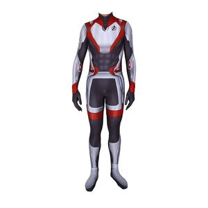 Avengers Endgame Quantum Realm Cosplay Costume Captain America Lycra Zentai 3D Style Jumpsuit Cosplay Costume for Adult Kids