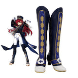 Elesis Alter Crown Shoes Cosplay ELSWORD Elesis Cosplay Boots Blue Shoes Custom Made Any Size