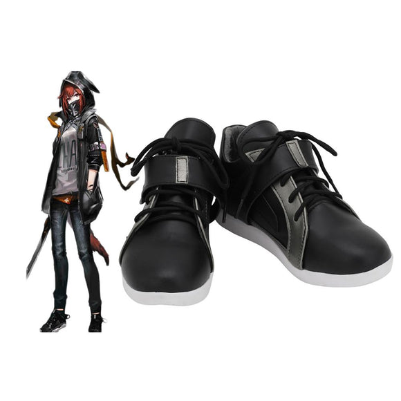Arknights Crownslayer Cosplay Shoes Black Boots Custom Made Any Size