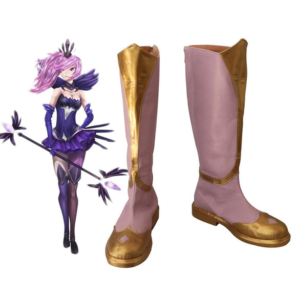 League of Legends LOL Elementalist Lux Skin Cosplay Boots Pink Shoes Custom Made