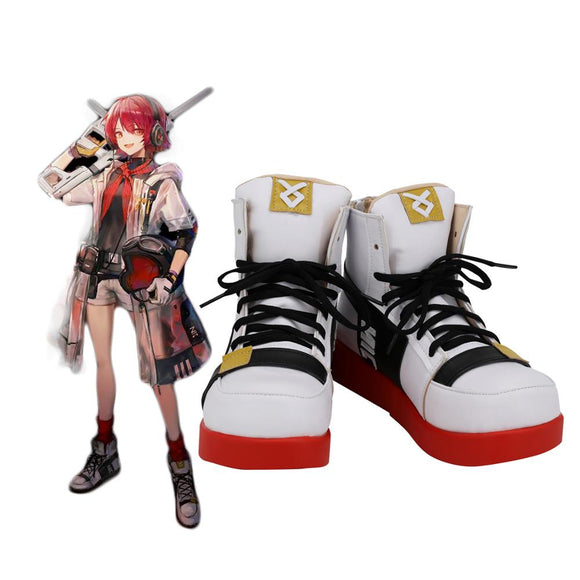 Arknights Exusiai KFC Cosplay Boots White Shoes Custom Made