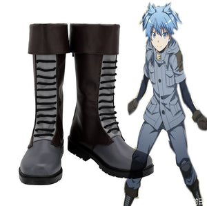 Assassination Classroom Class 3-E Nagisa Shiota Kaede Kayano Cosplay Boots Leather Shoes Custom Made Any Size